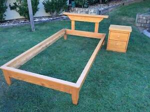 King single bed with bed side table Bracken Ridge Brisbane North East Preview
