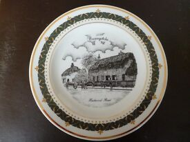 Decorative collectable plate of old Basingstoke