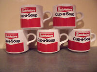 5 vintage (1980s) Batchelors Cup-a-Soup mugs. Excellent condition. £10 ovno lot or £2.50 each.