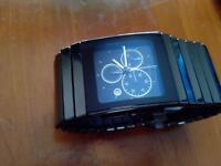 Ceramic chronograph watch