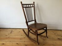 Vintage Antique Unusual Bentwood Rocking Chair Thonet Mundus Kohn