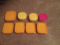 8 Piece Plastic Food Containers Storage Boxes New