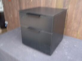 Ex display Matt Black Bedside drawer Table Delivery Available