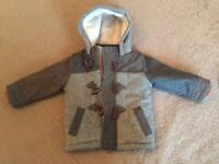 Boys next cozy winter coat size 12-18 Months