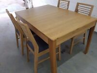 Geo Extending Dining Table + 4 chairs RRP £1199