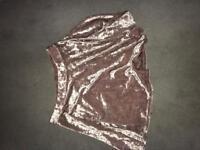 Pink Topshop Velvet Type Skirt