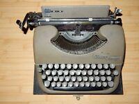 """Vintage Oliver """"Courier"""" portable typewriter"""
