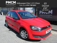 VOLKSWAGEN POLO 2011 1.2 S 3dr - LOW INSURANCE - GOOD SERVICE HISTORY - fiesta clio corsa (red) 2011