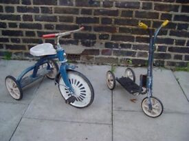 FREE DELIVERY Vintage Childs Bike And Scooter Retro