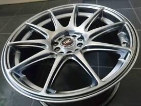 17 inch alloy wheels multifit Audi VW Honda Toyota Subaru Impreza Nissan Drift Euro JDM stance