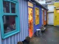 Rarely available! Ground Level Craft Workshop beside The Hidden Lane Tearoom, Finnieston!