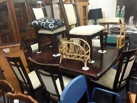 Dining table and 8 x chairs