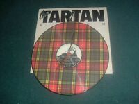 THE TARTAN(V/A)VINYL LP,CONVERTED TO AN ATTRACTIVE CLOCK.