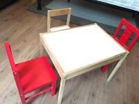 Ikea kids table and three chairs