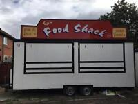Catering trailer, twin axel
