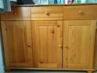 Pine effect sideboard