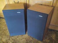 RETRO / VINTAGE - SOLAVOX PR30 LOUDSPEAKER SYSTEMS - PAIR - 3 WAY - NATURAL WOOD CABINET -XLENT COND