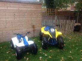 SUZUKI QUADS FOR SALE ( sold separately or as a pair )