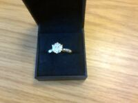 Half carat cluster diamond gold Ring