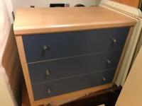 Sturdy Blues Chelsea Rangers Wood Drawer Chest Child Kids Teenager Student Family Bedroom