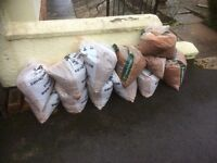 12 Bags scalpin's (paths, drives etc.)