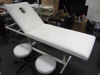 Commercial Massage Table Bed With 2x Stools