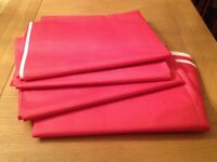 4 Red Tablecloths, thick paper disposable