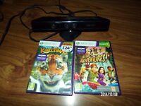 Xbox 360 kinekt and games