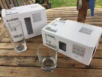 Ikea Godis Glasses - 8oz and 14oz - boxes of 6