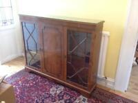 """Vintage wooden bookcase cum display cabinet (53"""" X 43"""")"""