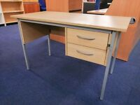 (Item 1212) Small 1200 Home Office Desk with Drawers (Computer workstation)