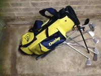 Junior Gold Bag With clubs