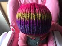 Chunky Merino wool hand knitted women hat
