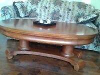 Broyhill COFFEE TABLE and matching END TABLES $300