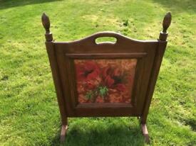 Antique vintage fire screen