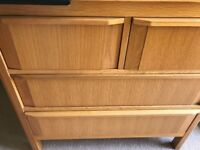 Marks and Spencer Oak (Chloe) chest of drawers and baby changer