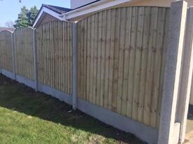 🌎High Quality Bow Top Feather Edge New Fence Panels • HeavyDuty