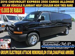 2016 Chevrolet Express 2500 CARGO ALLONGÉ 107.KM VÉHICULE FLAMBA