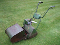 """Vintage ACTO 12"""" cylinder lawn mower, good working condition. Self-propelled and great stripes"""