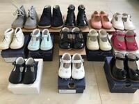 Job lot of Spanish designer baby leather shoes