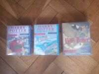 Harry Potter audio books x 3 - read by Stephen Fry VGC