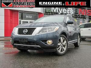 2016 Nissan Pathfinder PLATINUM, NAV, LEATHER, PAN ROOF ONLY 12,
