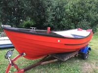 Yorkshire pebble 16ft fishing boat and trailer