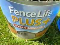 Fence paint - Ronseal Fence Life + - warm stone colour