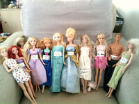 Bundle Of 10 Dolls Barbie And Disney
