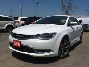 2016 Chrysler 200 C**LEATHER**SUNROOF**NAV**BACK UP CAM**