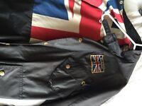 Men's Barbour Union Jack wax jacket L