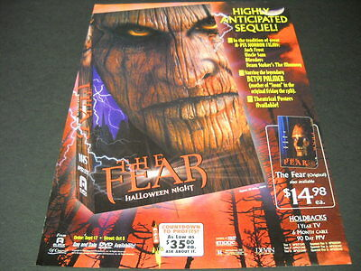 THE FEAR on HALLOWEEN NIGHT 1999 Horror Movie PROMO POSTER AD mint condition](Promo Halloween Horror Nights)
