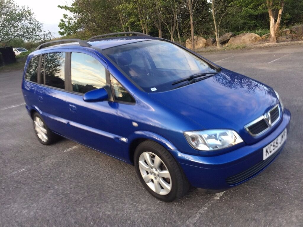 2005 vauxhall zafira 1 6 breeze 5 door nice blue 2006 1 disabled owner from new in. Black Bedroom Furniture Sets. Home Design Ideas