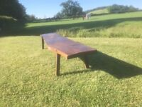 Solid Oak Table / Bench.